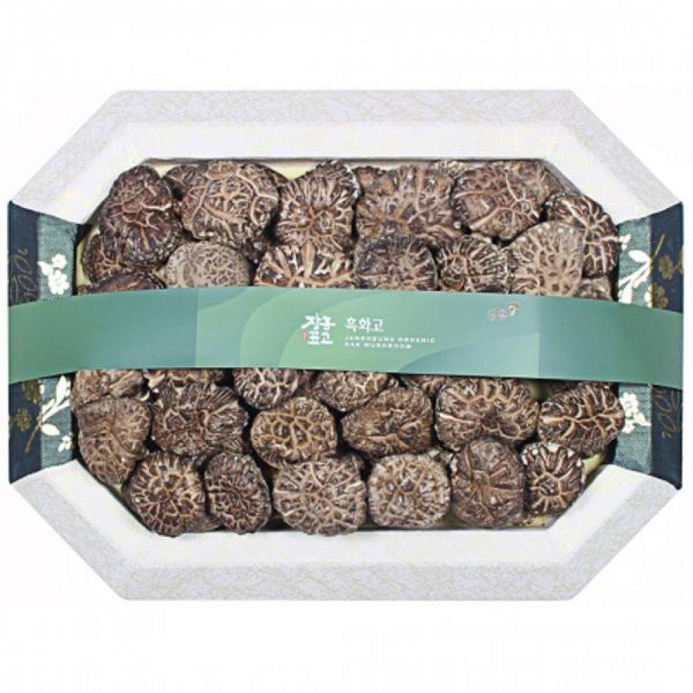 흑화고1호 (중)450g 쇼핑백 보자기포장 식품 농산물 채소 표고버섯 선물세트