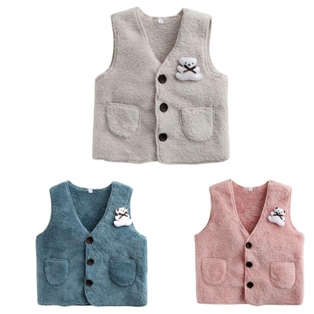 한국생산 보들보들 테디베어 조끼  202457 아기조끼 수면조끼 유아조끼 조끼 엠케이 조이멀티