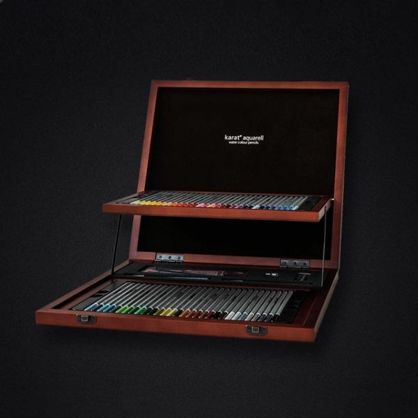 카라트 수채 색연필 60색 우드케이스 125W60 스테들러 수채색연필 수채 색연필 125 W60 한정판 화방 화방용품 전문가용