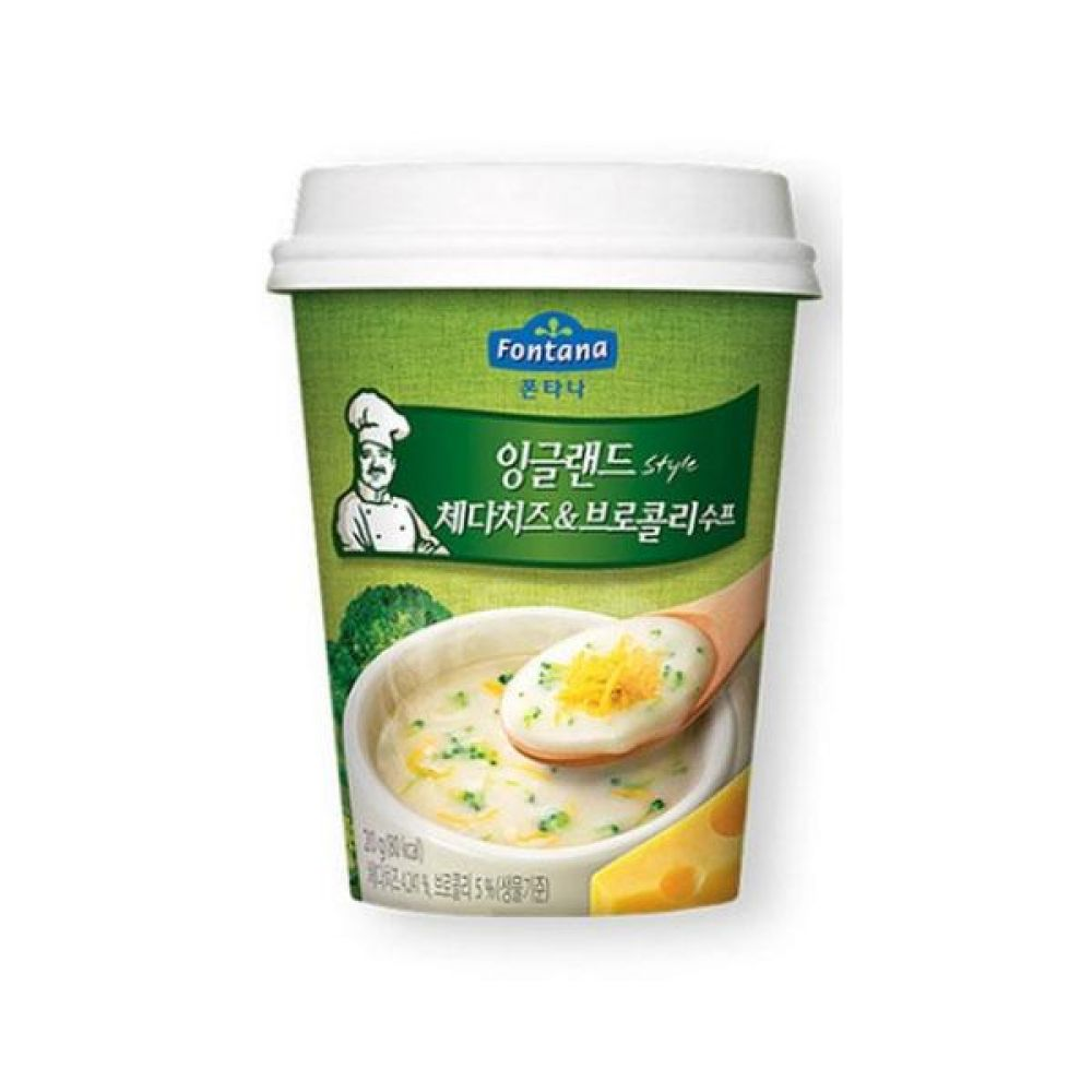 샘표)폰타나 잉글랜드 체다 브로콜리 컵수프 20g x 12개 즉석식품 간편식품 도시락 박스단위 도매