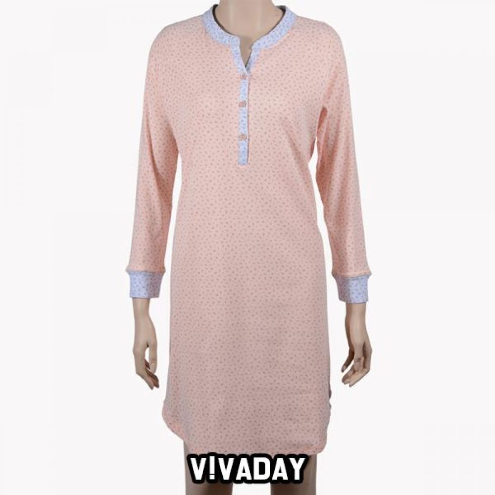 VIVADAY-SC359 러블리 잔꽃 배색 홈웨어 홈웨어 이지웨어 긴팔 반팔 내의 레깅스 원피스 잠옷 덧신 알라딘바지