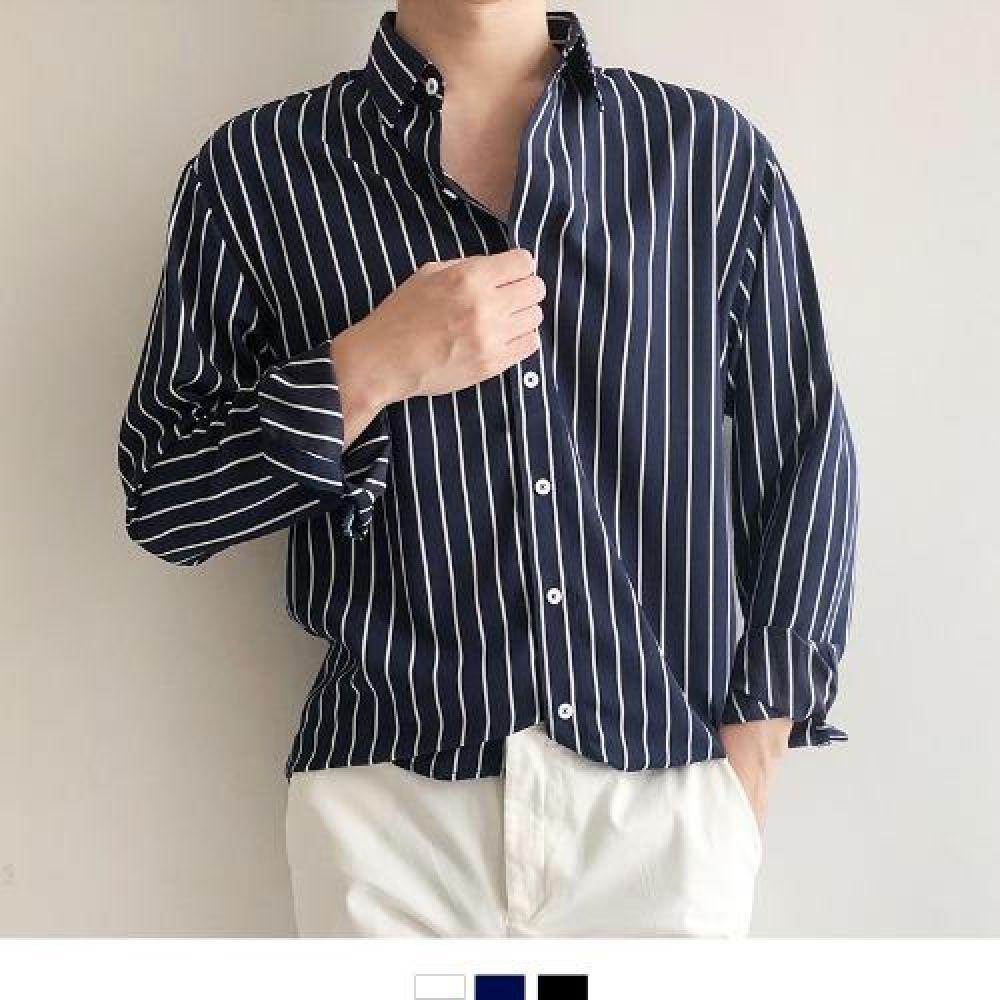 데일리 스트라이프 파자마 셔츠 남자셔츠 남자남방 남자오버핏셔츠 남자오픈카라셔츠 옥스포드셔츠 남성셔츠 남자와이셔츠 남자스트라이프셔츠 파자마셔츠 헨리넥셔츠