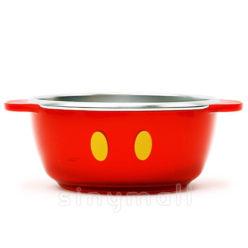 디즈니 미키 투명논슬립스텐공기(레드)(052904) 잡화 생활잡화 캐릭터 캐릭터상품 생활용품