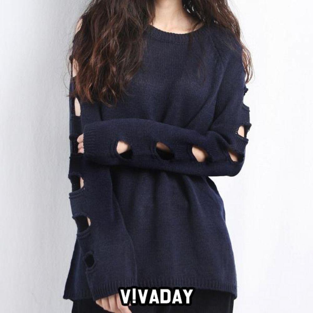 JJM-A376 여자 소매컷팅 니트티 청바지 니트티 가디건 아우터 패딩 티셔츠 후드티 맨투맨 브이넥 베스트