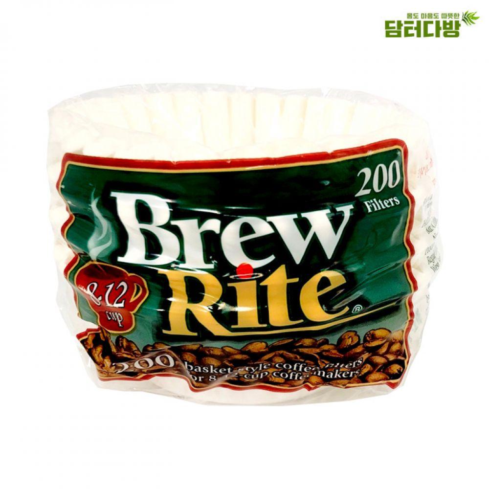 Brew Rite 원형여과지 No.45 200매 원형여과지 집에서즐기는 커피여과지 카페용품 실용적인 편리한 간편한 가성비 홈메이드 홈카페