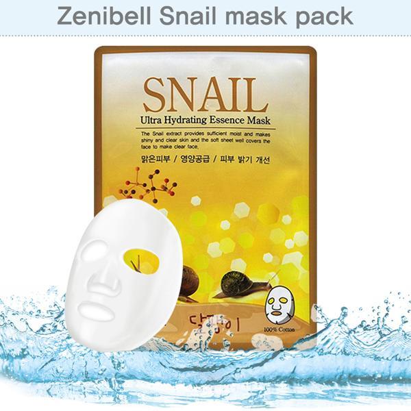 마스크 시트팩 제니벨 스네일 마스크팩 10장 묶음 마스크팩 마스크시트팩 마사지팩 미용팩 화장품