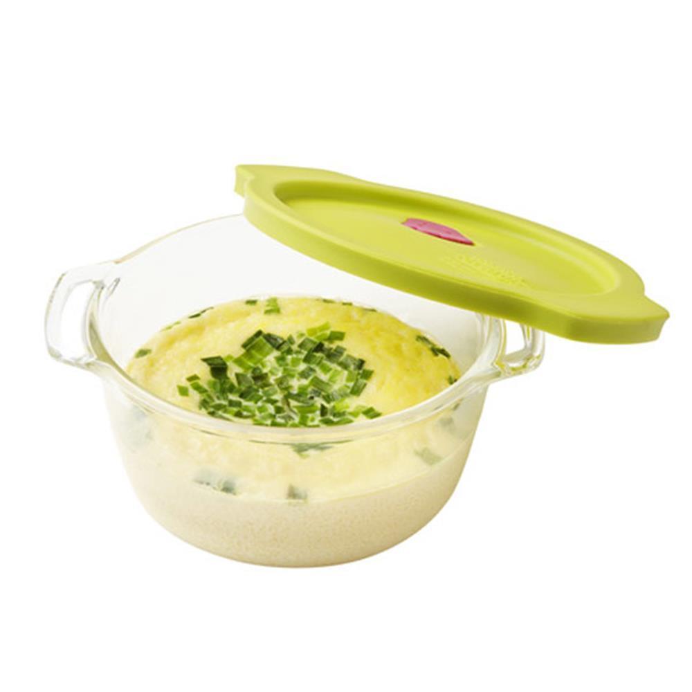 딥그린 오븐글라스 계란찜기 460ml 달걀조리 만능찜기 만능찜기 에그메이커 에그마스터 달걀조리 계란찜기
