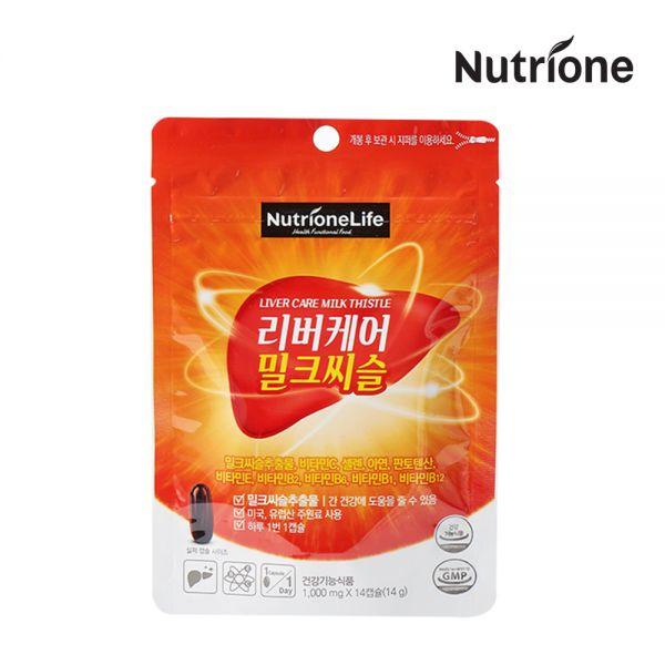 리버케어 밀크씨슬 14일분 14정 118483 식품 건강 건강식품 영양제 밀크씨슬