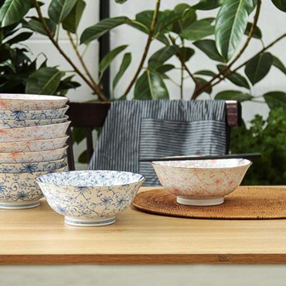 아이비 블루 면기 3P 밥그릇 예쁜그릇 주방용품 그릇 예쁜그릇 면기 밥그릇 주방용품 그릇