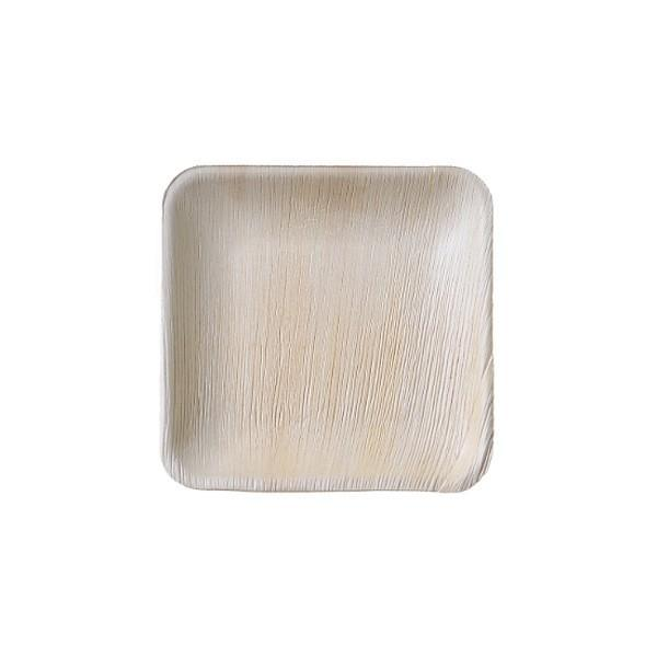 본플라 천연야자나무 15cm 일회용 정사각형 접시 (8) 주방소품 일회용접시 피크닉 포장용기 집들이