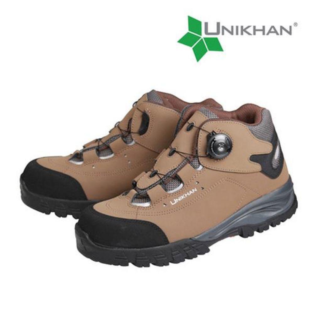 유니칸 UK-45 다이얼 6in 보통작업용 중단화 안전화 안전화 UNIKHAN 유니칸 가죽안전화 보아시스템 작업화 현장화 작업신발
