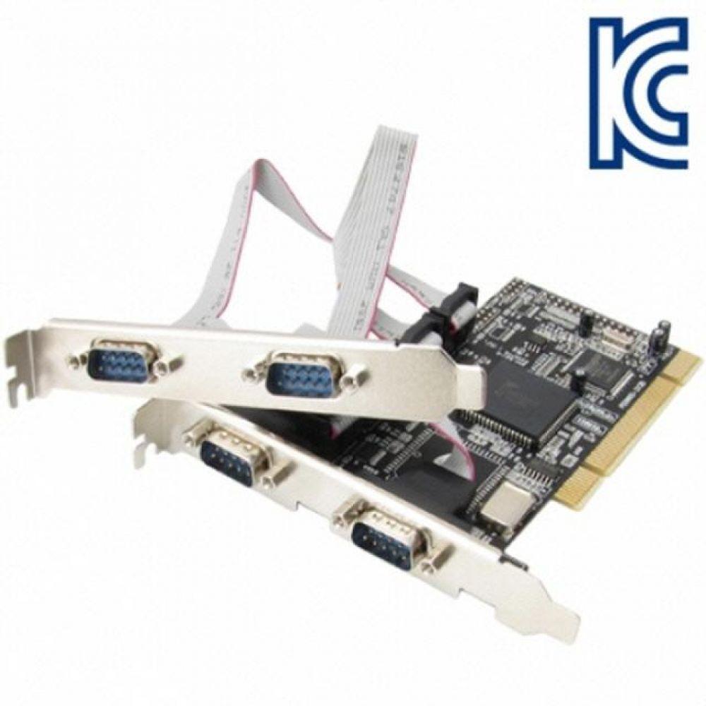 NETMate 4포트 PCI 시리얼카드 MOS 슬림PC겸용 컴퓨터용품 PC용품 컴퓨터악세사리 컴퓨터주변용품 네트워크용품 외장하드연결 외장하드랙 ssd브라켓 외장하드도킹스테이션 hdd 500gb ultrastar 5tb 외장케이스 ssdusb