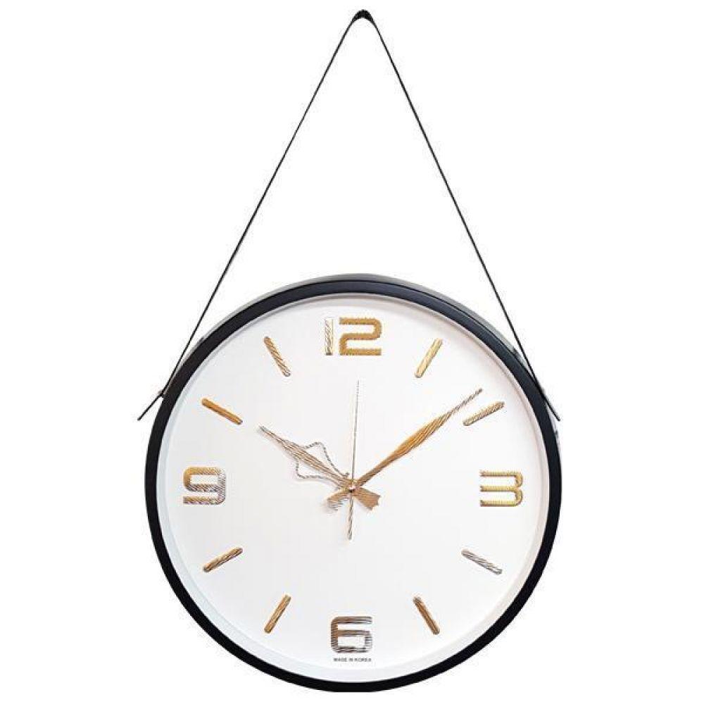 GB4595 고급인덱스 무소음 벽시계36.5cm 블랙 한국 벽시계 무소음벽시계 인테리어벽시계 모던벽시계 메탈벽시계