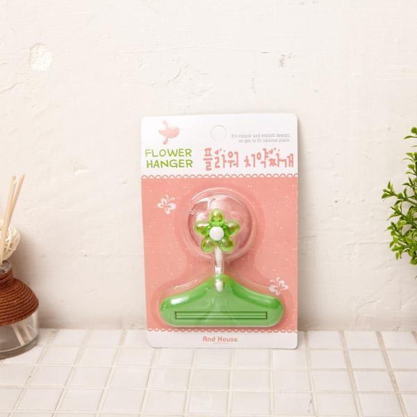 플라워 치약짜개-색상랜덤 화장실소품 양치컵 칫솔걸이 샴푸통 디스펜서