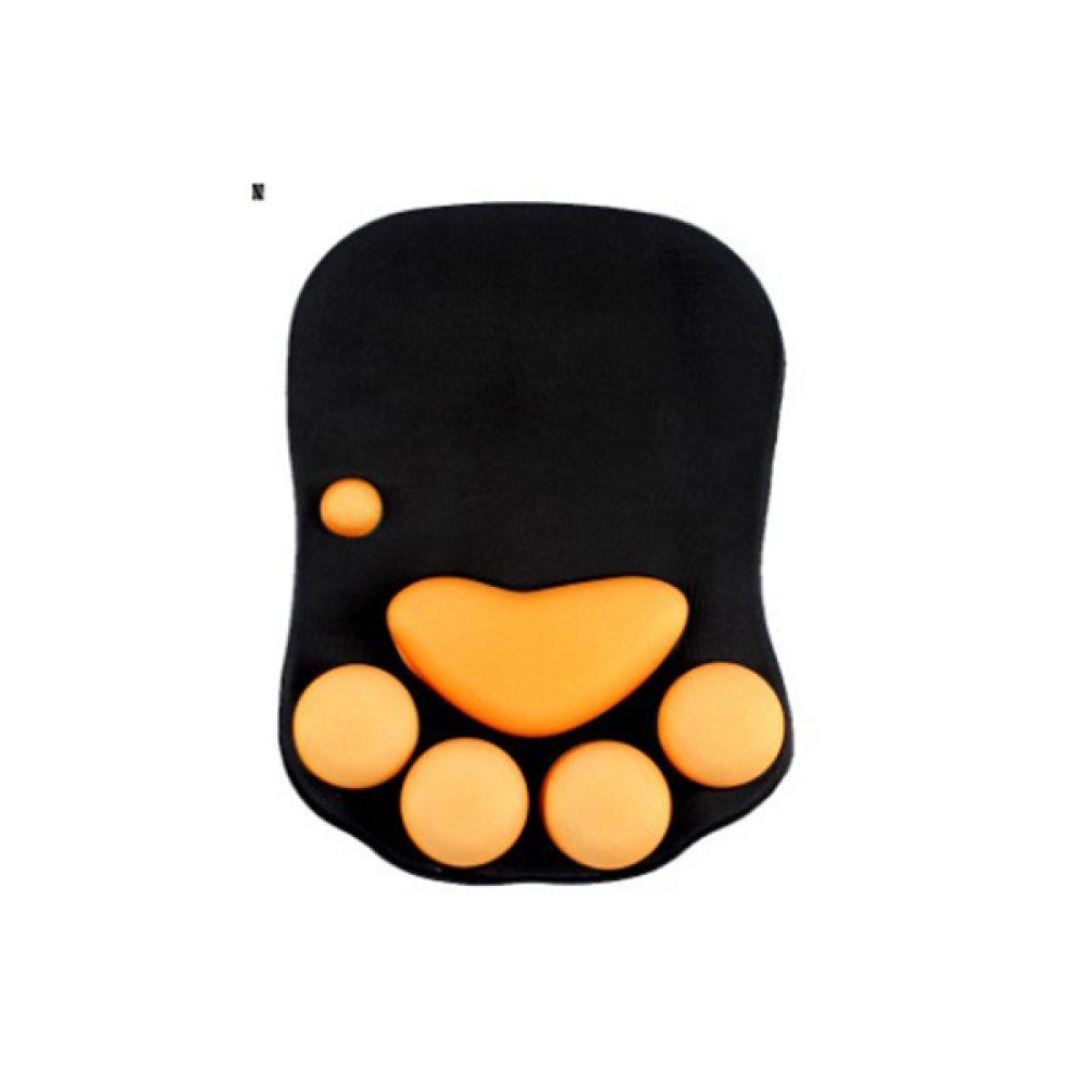 고양이발 젤 마우스패드(NP-501 블랙 세븐앤씨) 마우스패드 세븐앤씨 블랙 컴퓨터 마우스 전산 사무 오피스 보조