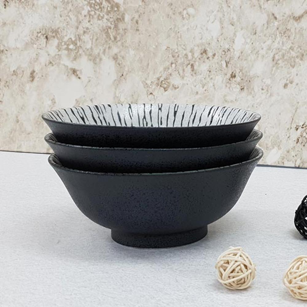 쿠로시오 3P 면기 일본면기 국그릇 면그릇 식기류 그릇 면기 라면그릇 예쁜그릇 면그릇