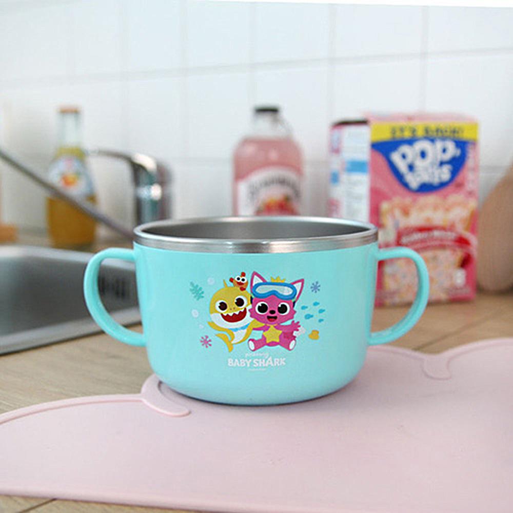 핑크퐁 논슬립 스텐 면기 핑크퐁 아기상어 라면그릇 유아라면그릇 아동식기 유아식기 간식접시 아동식판 유아식판 유아동도시락