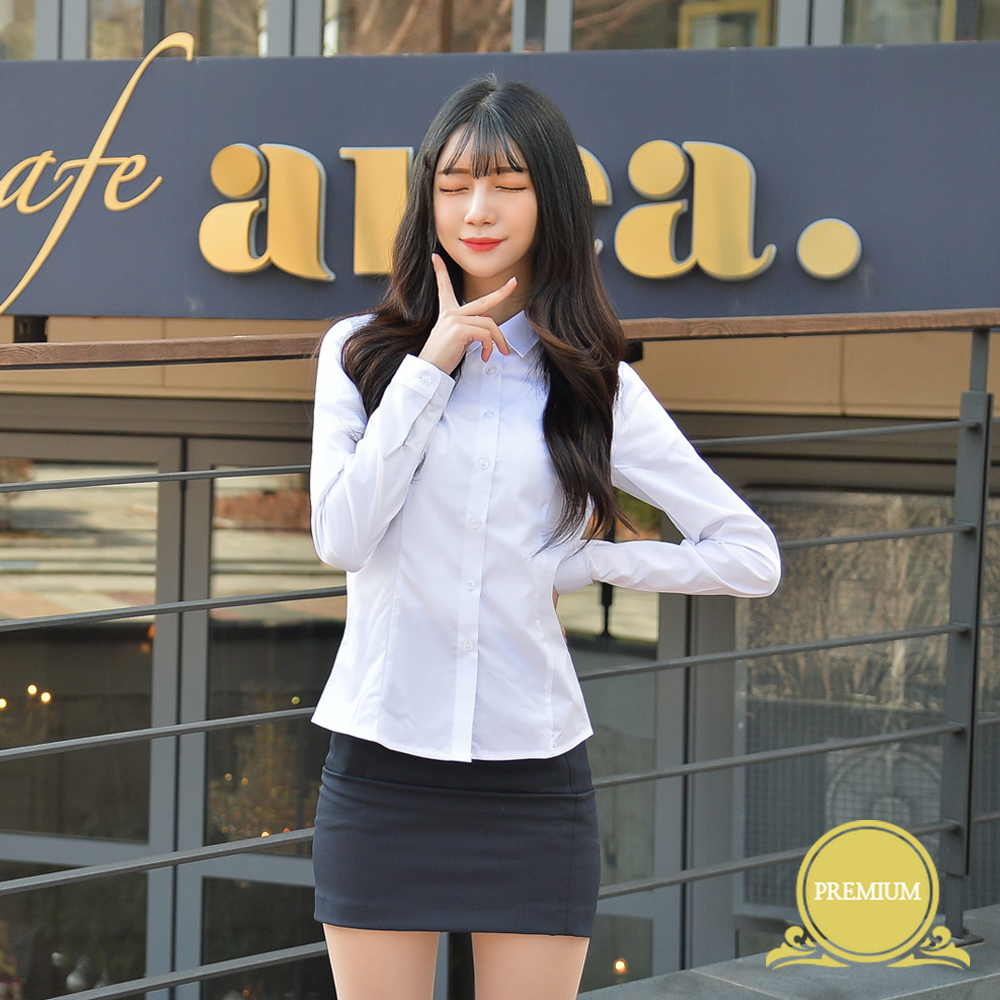 (빅사이즈)프리미엄 여성셔츠 -4XL(각카라 밝은블루) 교복셔츠 교복 교복쇼핑몰 교복와이셔츠 남자교복 학생복 교복남방 교복블라우스 여자교복 고등학교교복