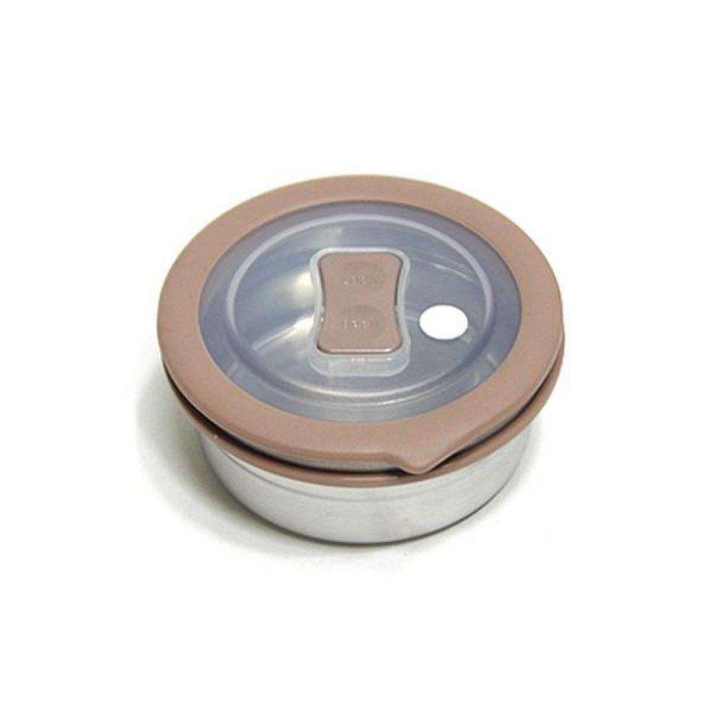 스텐레스 밀폐용기 원터치 원형4호 440ml 사각밀폐용기 유리밀폐용기 보관용기 밀폐용기세트 원형밀폐용기