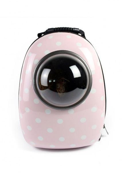 캡슐백팩 고양이 강아지 우주선 애견 가방 이동장 -핑크