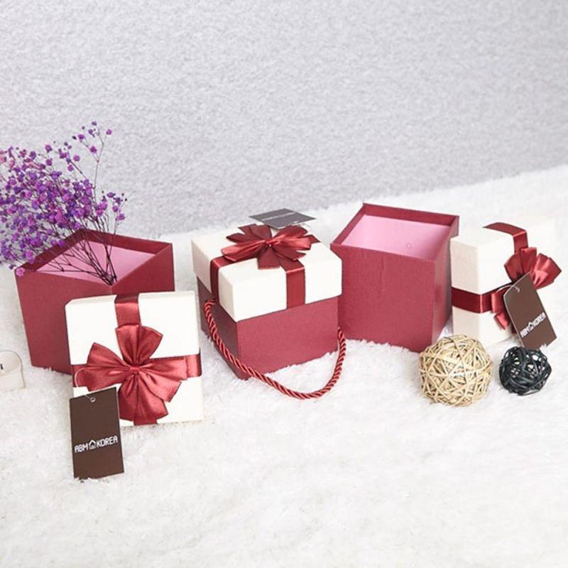 꽃리본 선물상자 레드 10x10 상품권박스 포장상자 상품권박스 선물상자 포장상자 포장박스 상품권케이스