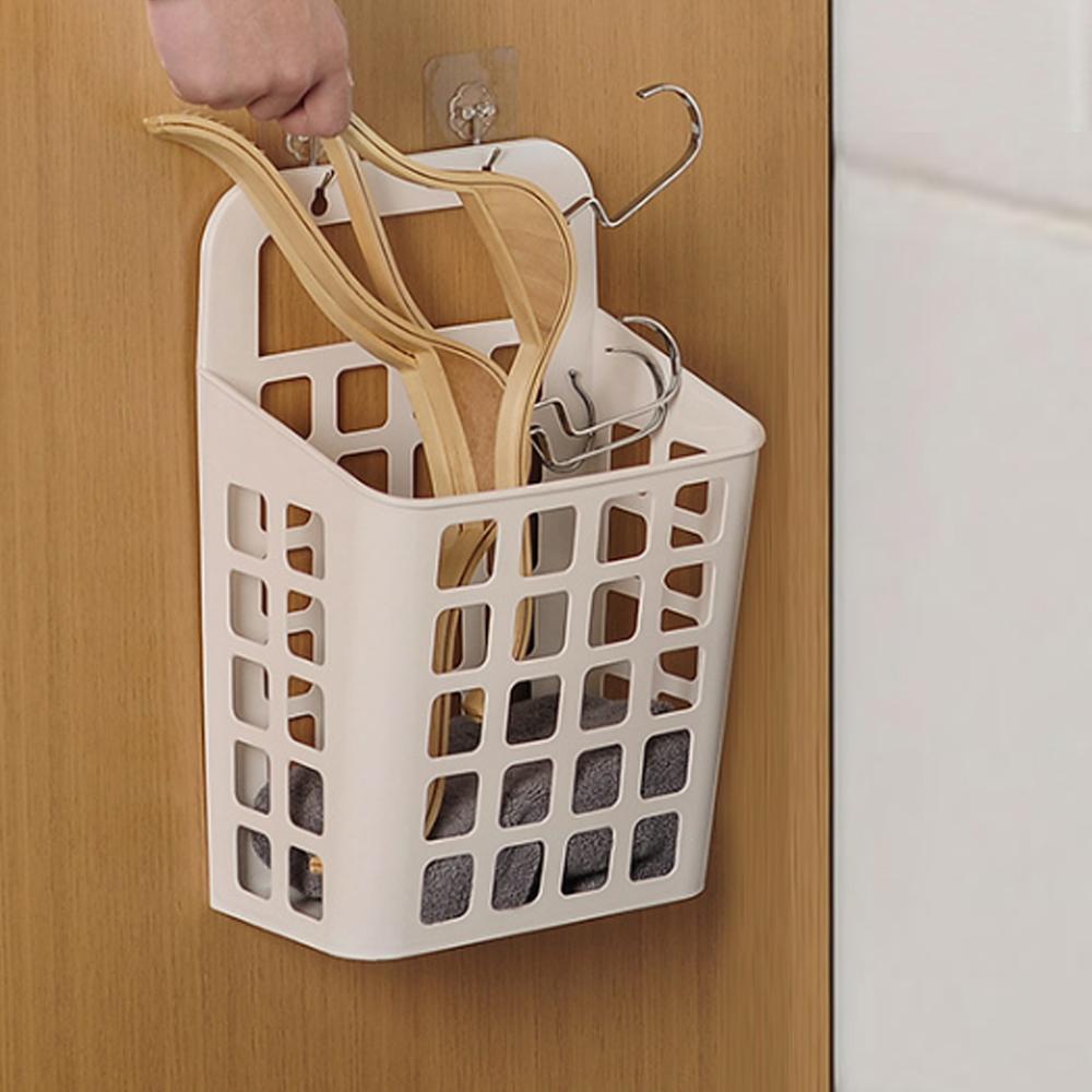 걸이형 빨래 바구니 베이지 다용도바구니 빨래분리 다용도바구니 빨래수거함 세탁보관함 세탁바구니 빨래통
