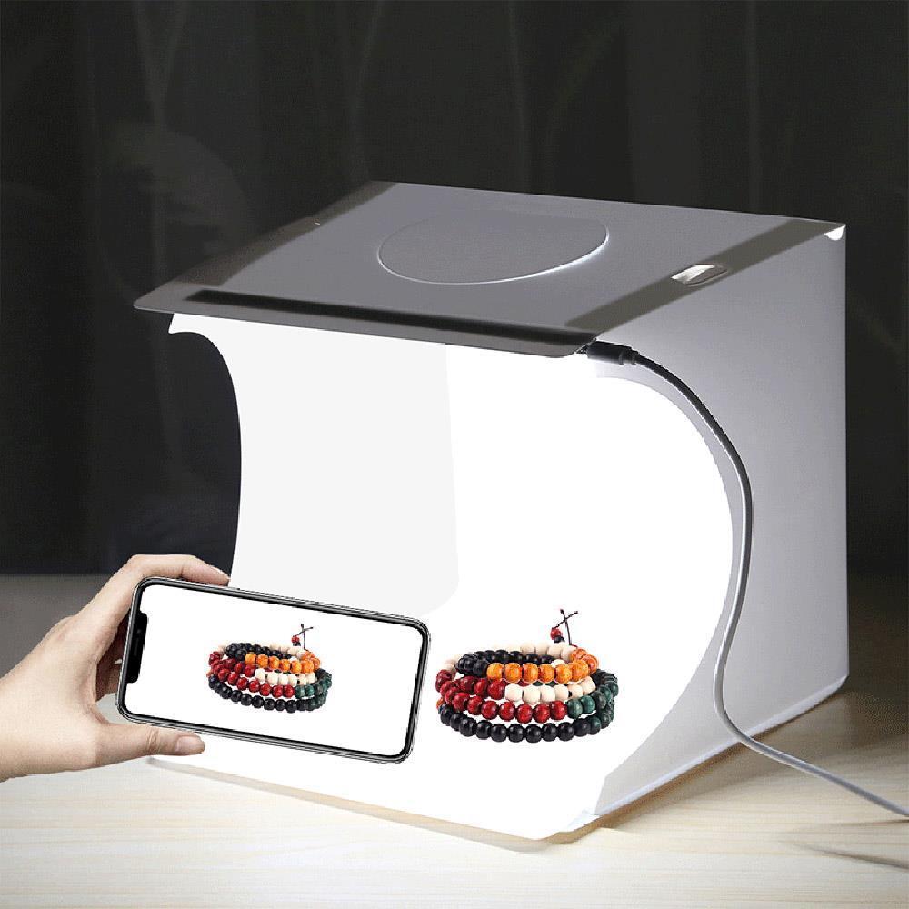 22x23cm 직선라이트 포토박스 LED led미니스튜디오 간이스튜디오 소품촬영대 촬영배경 촬영조명 포토박스