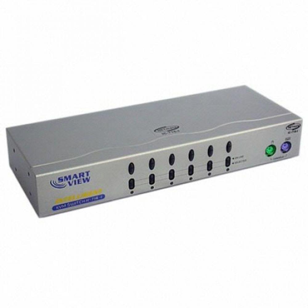 NETMate KVM 6대1 스위치 PS2용 컴퓨터용품 PC용품 컴퓨터악세사리 컴퓨터주변용품 네트워크용품 hdmi스위치 모니터분배기 kvm케이블 hdmi케이블 usb셀렉터 랜선 모니터선택기 hdmi컨버터 모니터스위치 랜젠더