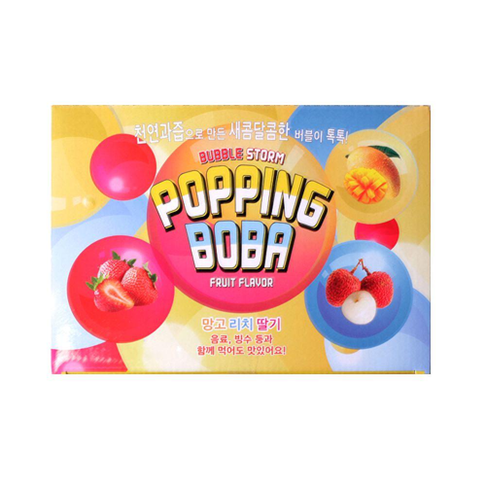 팝핑보바 12개입 유통기한임박 20년5월8일 팝핑보바 버블스톰 팝핑보바맛 버블스톰팝핑보바 팥빙수재료