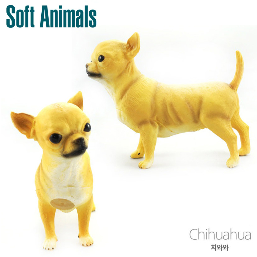소프트 애니멀 치와와 학습완구 장난감 동물모형 동물완구 동물모형 장난감 학습완구 동물학습