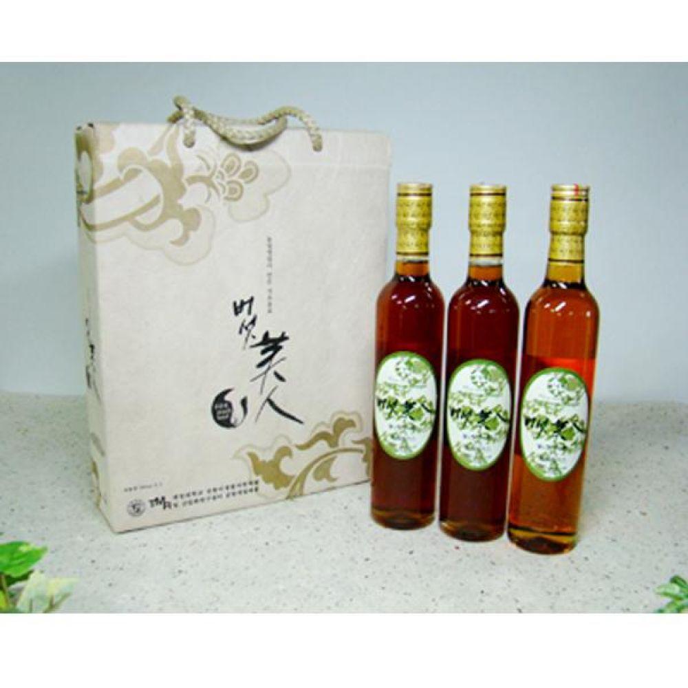 류충현 버섯미인 식초세트(360ml 3입) 선물용으로도 정말 좋은 원료의 맛과 향이 살이있는 고급 음용 식초 건강 식품 버섯 선물 식초