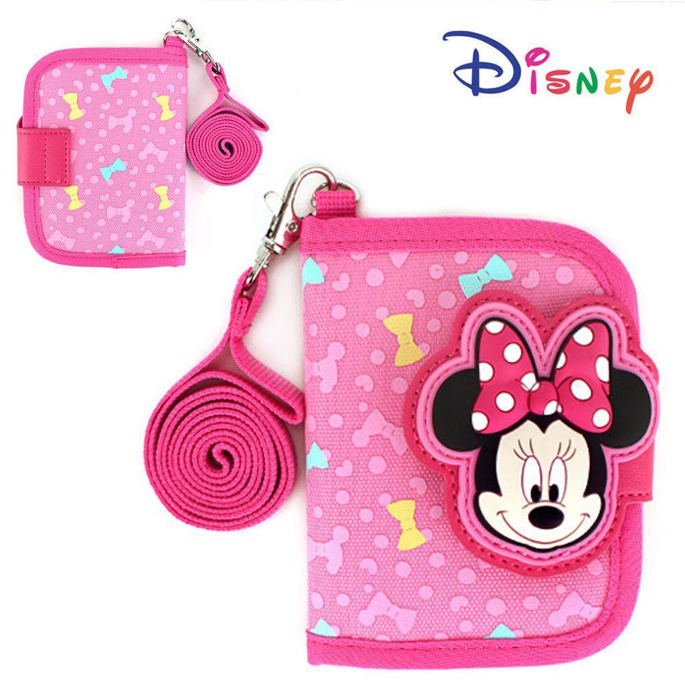 윙하우스 미니마우스 패턴 지갑 목걸이 지갑 아동지갑 어린이 학생지갑