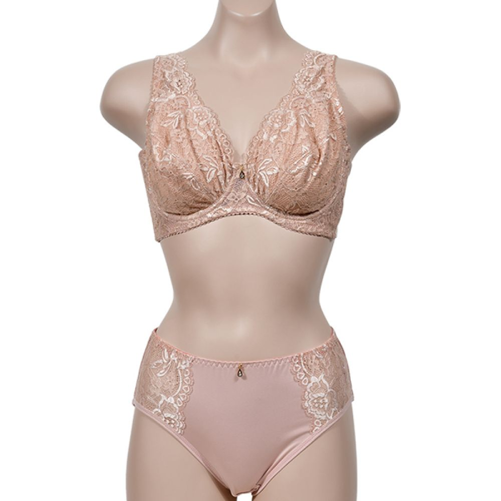 (피오나)(ST7283E컵)우아한 자수 레이스 빅사이즈 풀컵 노몰드 E컵 브라팬티세트 여자속옷 여성속옷 브라팬티세트 노몰드 E컵