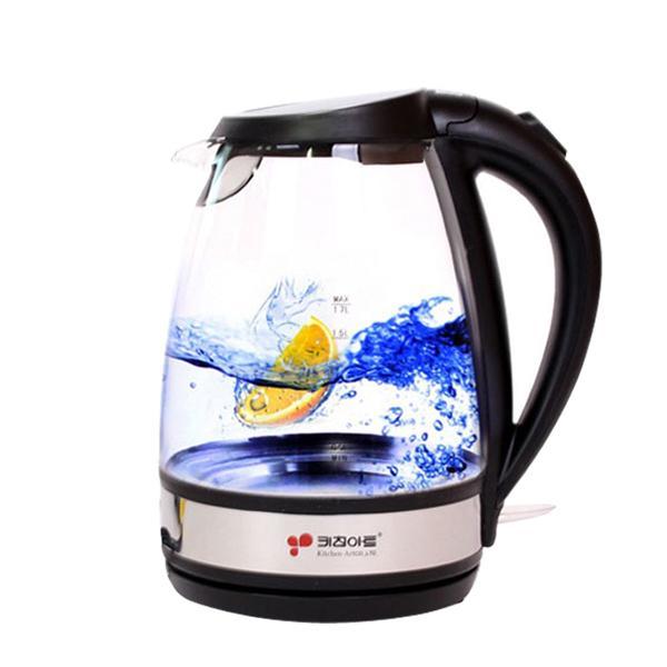 키친아트유리무선주전자(KAK-1417) 미니주전자 무선주전자 전기포트 커피포트 아메리카노 커피