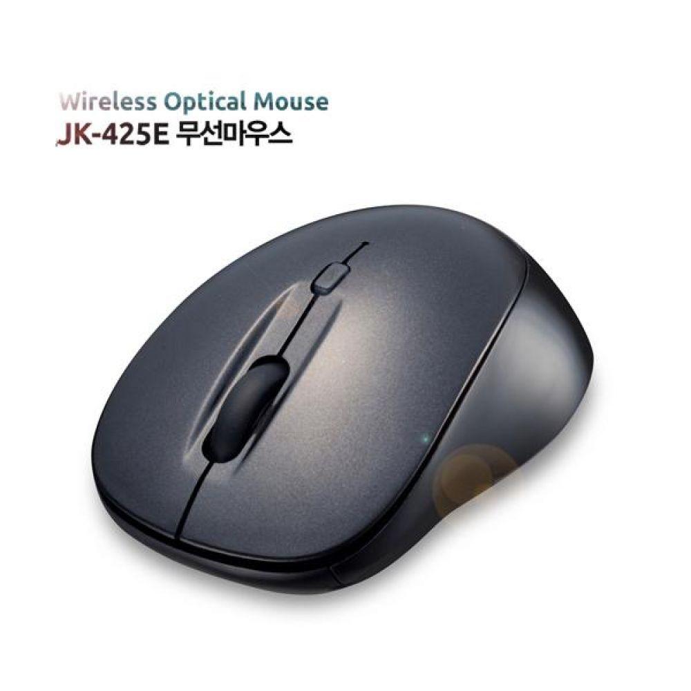 JK-425E 무선마우스 2.4G (조절버튼이용) 50g 블랙 컴퓨터주변기기 무선마우스 마우스 소프트웨어 PC부품