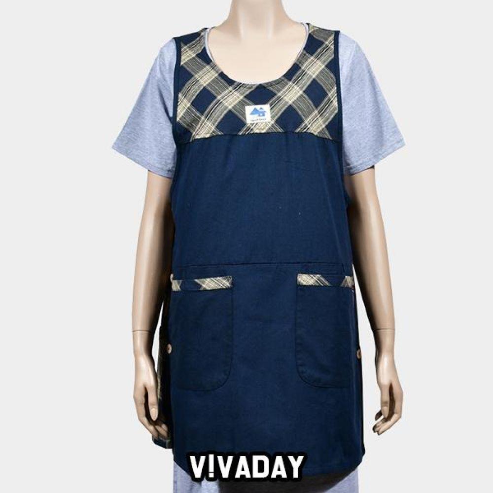 VIVADAY-SC323 지퍼주머니 배색 앞치마 앞치마 주방 주방용품 주방앞치마 여성앞치마 여자앞치마 요리 저녁
