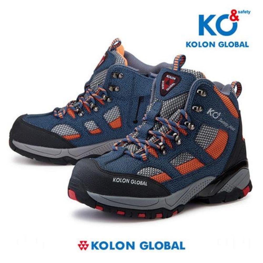 코오롱글로벌 KG-66 6in 미끄럼방지 작업화 안전화 안전화 KOLONGLOBAL 코오롱글로벌 가죽안전화 메쉬 지퍼안전화 지퍼타입