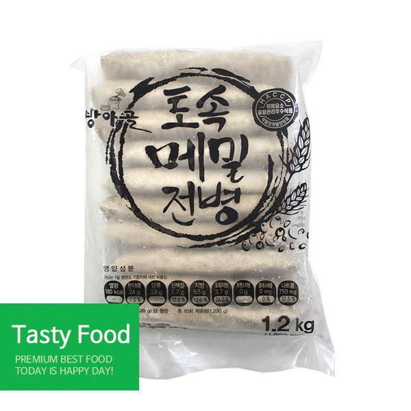 (냉동)제일FC 토속메밀전병1.2kgX10개 전병 간식 메밀전병 식자재 식품
