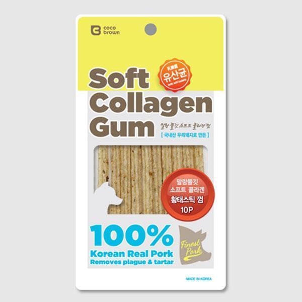 MD 소프트 콜라겐스틱 유산균 황태껌 10p 애견용품 애완용품 강아지 고양이 애견 애묘