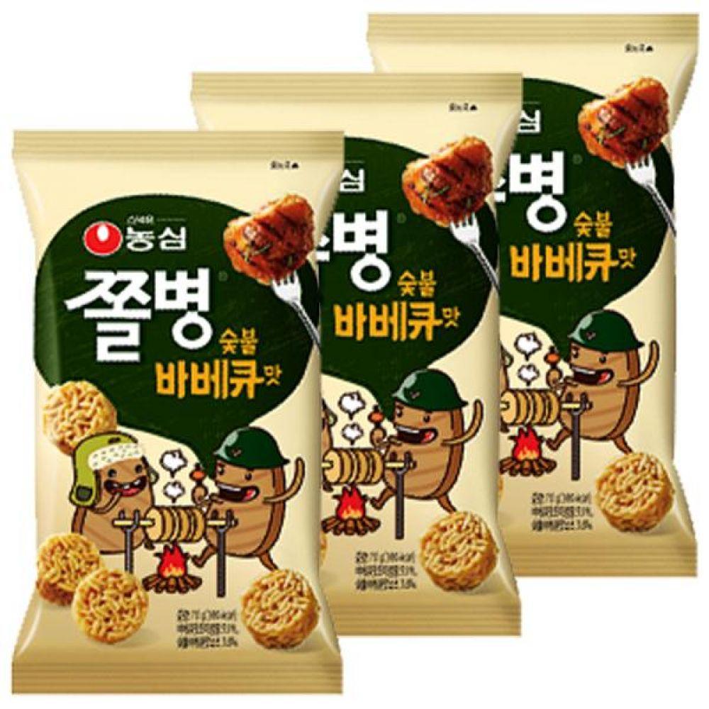 농심) 쫄병스낵 90g(바베큐) x 10개 잘게부순라면 사탕 캔디 달콤 대량도매 도매