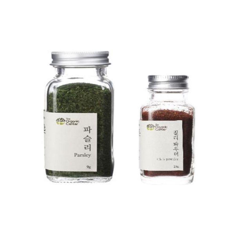 (오가닉 향신료 모음)건파슬리 30g과 칠리파우더 25g 건강 견과 조미료 냄새 야채