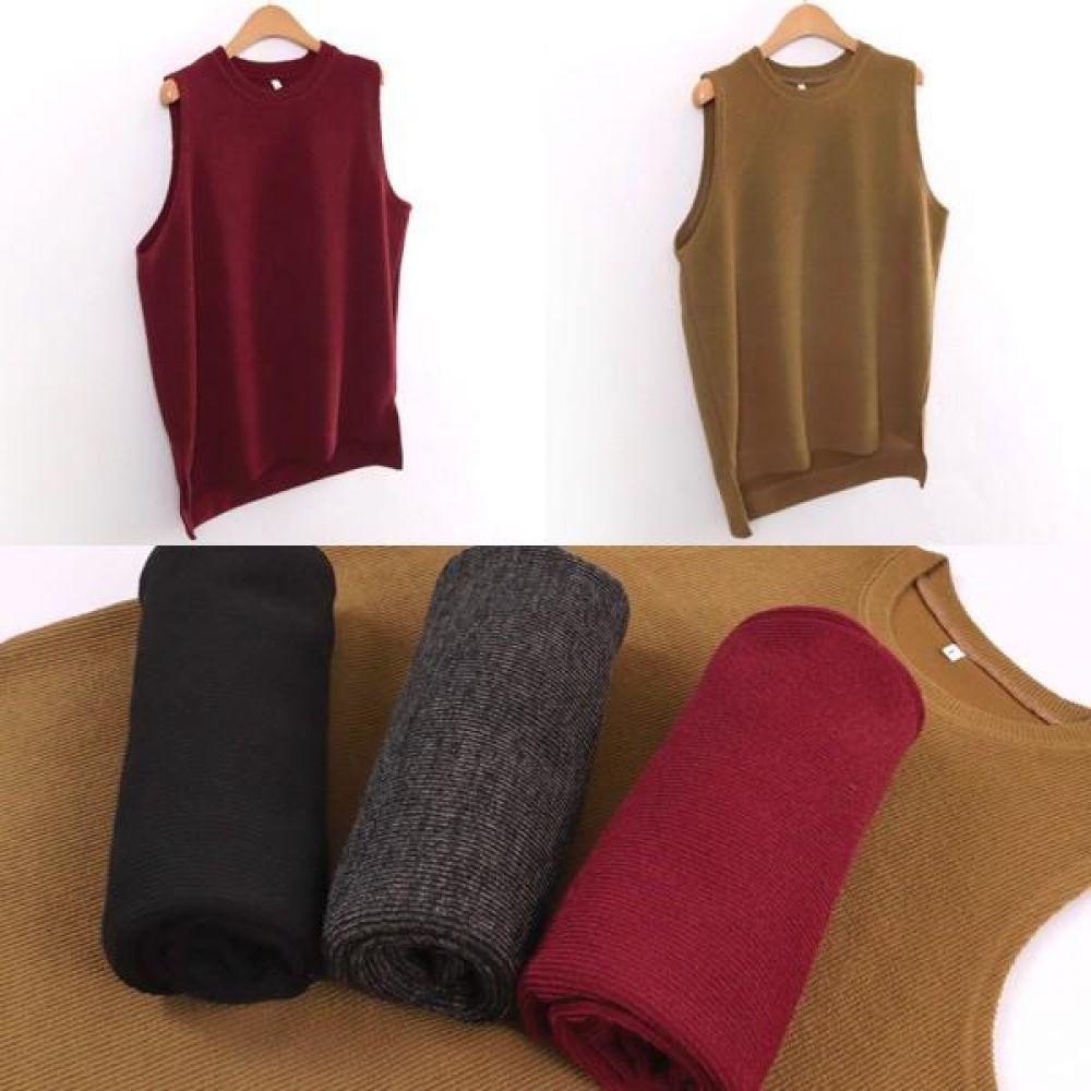 빅사이즈 001 베이직 골지 베스트 DWWw113 빅사이즈 여성의류 미시옷 임부복 001베이직골지베스트DWWw113