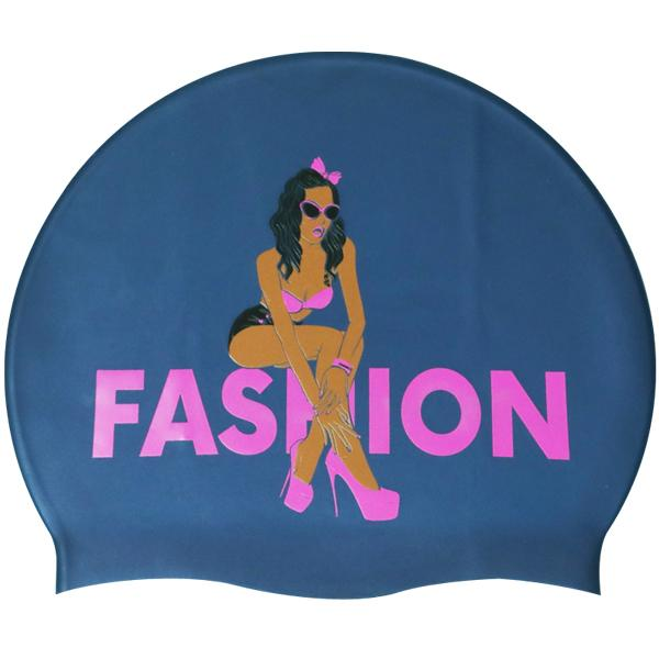 Fashion-Navy르망고 실리콘수모 수영모자 수영용품 수영모 수중운동용품 디자인수영모