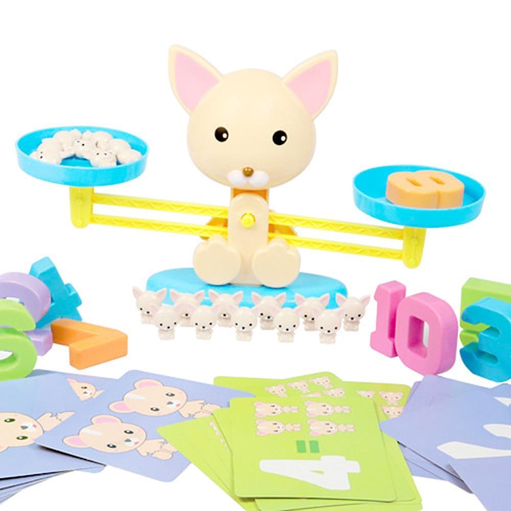 선물 유아 수연산 강아지 저울 숫자 놀이 조카 생일 완구 어린이집 유아원 초등학교 장난감