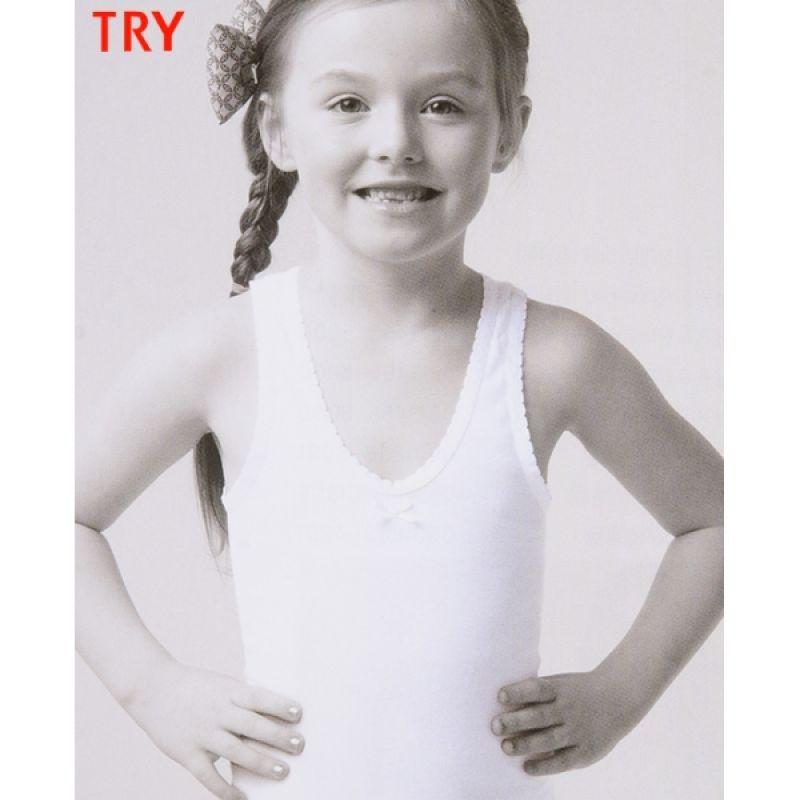 (트라이)(소)여무)편안한 면 백색 여아동런닝 아동속옷 아동런닝 여아동런닝 여아런닝 나시