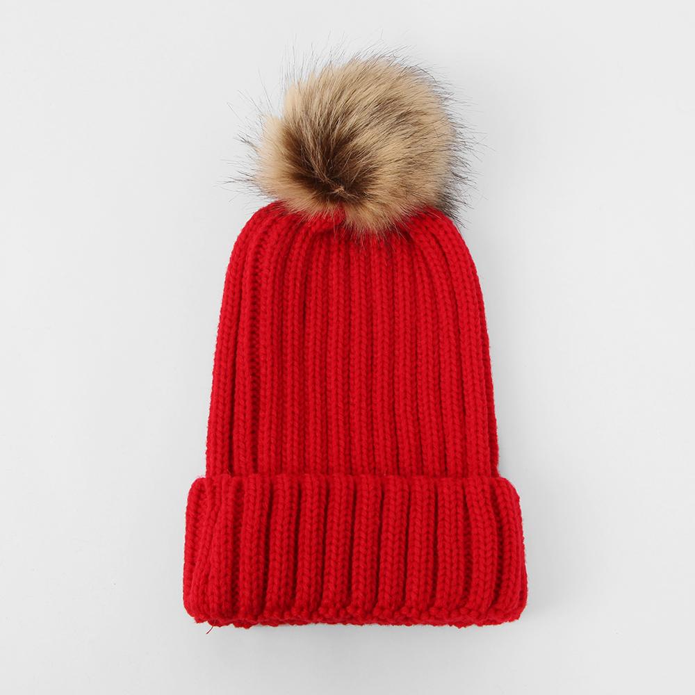 겨울 방울 털모자 레드 방한용품 방한모자 겨울모자 니트모자 방한용품 방한모자 털모자 겨울모자