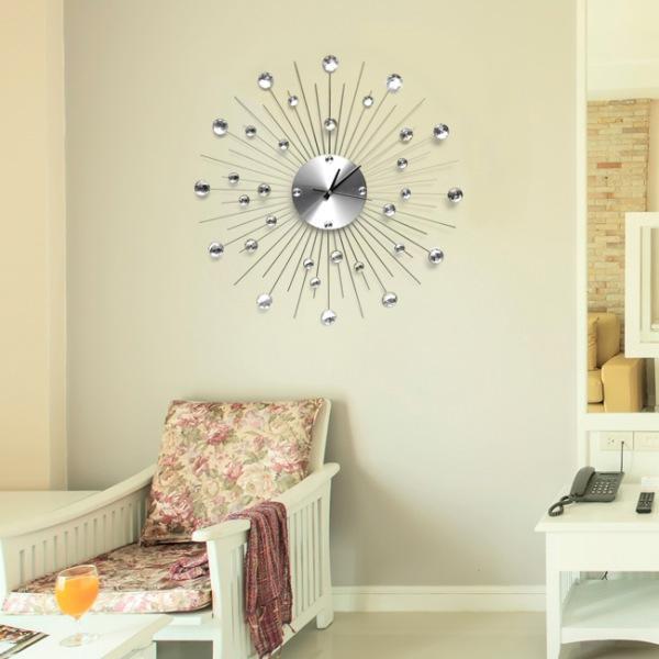 JHC컴퍼니 스테인리스 크리스탈 벽시계(55cm) 벽시계 탁상시계 시계 클래식시계 엔틱벽시계