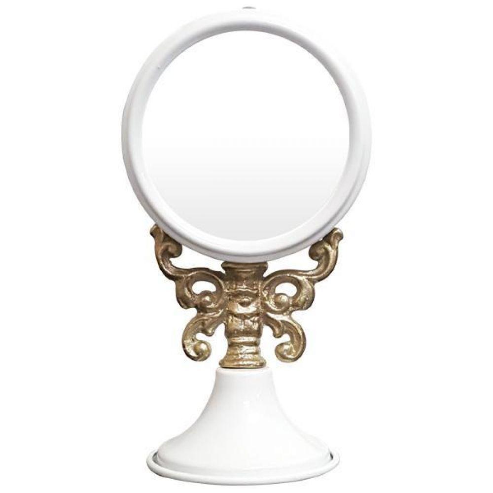 IG7361 주석 탁상 거울 화이트 제조한국 탁상거울 인테리어거울 메탈거울 주석거울 소품거울