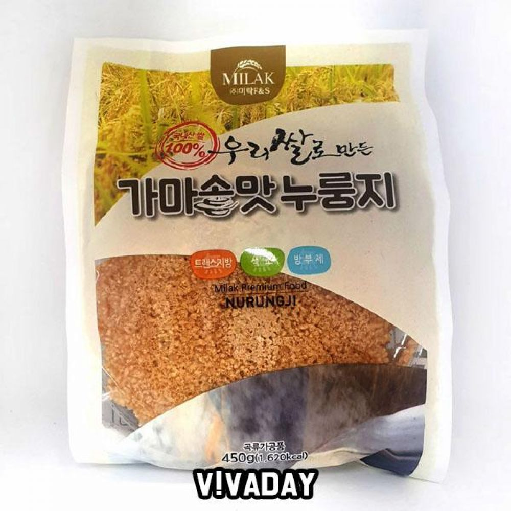MY 우리쌀 가마솥맛 누룽지 450g 간편식 간편식 간편조리 라면 봉지라면 카레 미트볼 컵밥 컵반 죽