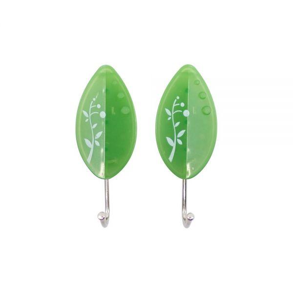 (SM-7)팜팜 야광행거 나뭇잎(2P) 글루접착고리 수세미걸이 행주걸이 주방걸이 벽걸이 소품걸이